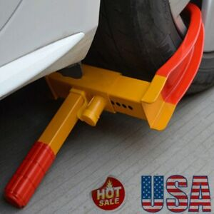Car Tire Lock Anti Theft Wheel Lock Thickened Auto Locking Tire Truck Towing Us