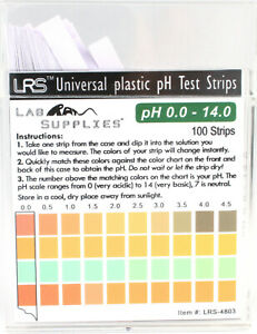 Plastic Ph Test Strips Universal Application ph 0 0 14 0 0 5 Interval 100 Pc