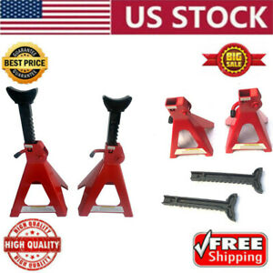 2 3 6 Ton Jack Stands Car Truck Auto Support Set Ratcheting Locking Adjustable