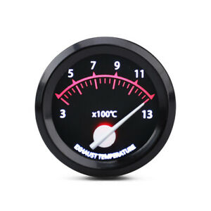 2 52mm Pointer Led Exhaust Gas Temp Gauge Egt Temperature Meter With Sensor