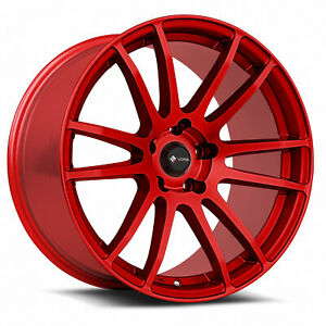 18x8 5 Candy Red Wheels Vors Tr10 5x115 35 Set Of 4 73 1