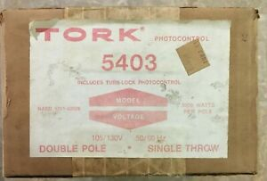 Tork 5403 Photocontrol With Turn lock 2003 Photocontrol New Factory Sealed Box