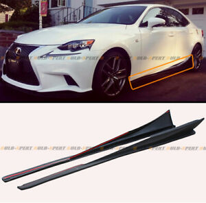 For 2014 2020 Lexus Is Is200t Is300 Is350 F sport Style Side Skirt Extension Lip