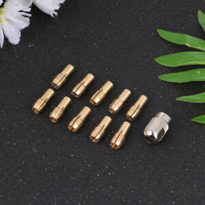 20pcs Electric Grinder Copper Drill Collet Grinding Chuck Grinder Accessories Wi