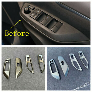 Fit For Toyota Yaris 2020 2021 Door Armrest Window Lift Button Panel Cover Trim