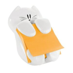 Post it Notes Cat Noteholder 3 x3 White