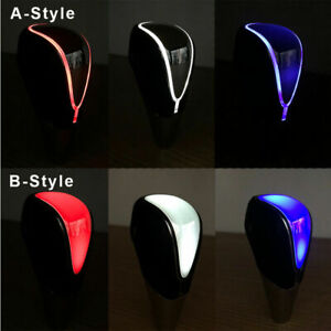 Car Gear Shift Knob Head Led Light Touch Activated Sensor Usb Charging Handle