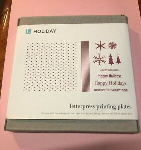 Lifestyle Crafts Letterpress Happy Holiday Printing Plates quickutz