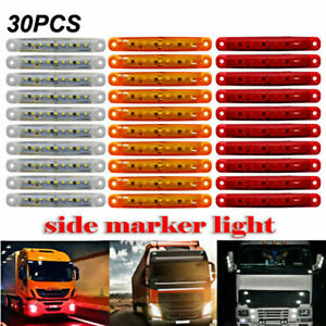 30x Sealed Red Amber White 9 Led Side Marker Lights For Truck Trailer Lorry 4