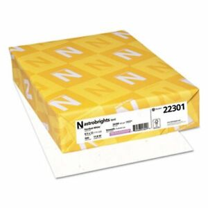 Neenah Astrobrights Colored Paper 8 1 2x11 Stardust Wh 500 Sheets wau22301