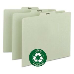 Recycled Top Tab File Guides Monthly 1 3 Tab Letter 12 Guides smd50365
