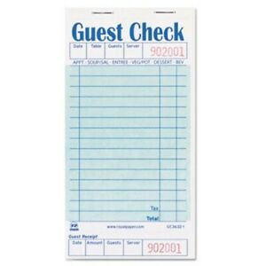Royal Guest Check Book One part Receipt 50 Books rppgc36321