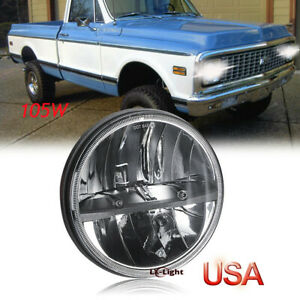 Dot Approved 7 Led Round Headlight High Low Sealed Beam For Chevy Luv Truck K10