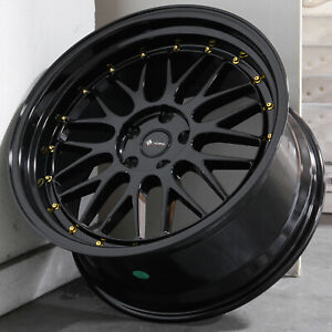 19x9 5 Gloss Black Wheels Vors Vr8 5x114 3 22 set Of 4 73 1
