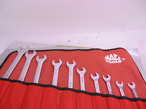 Sk Professional Tools 86231 12 Point Fractional Short Combination Wrench Set 9