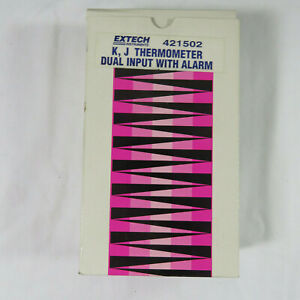 Extech K J Thermometer 421502 Dual Input With Alarm Box Working