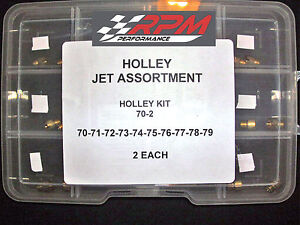 Holley Jet Kit Assortment Carb Carburetor Gas Main 70 79 2 Each 20 Pack 70 2