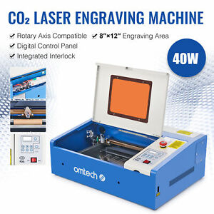 Co2 Laser Engraver Cutter 40w 12 x8 Engraving Cutting Machine Upgraded K40