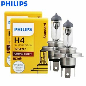 Philips Rally Vision 9003 Hb2 H4 100 90w Two Bulbs Head Light Off Road Dual Beam
