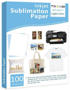 Sublimation Paper Heat Transfer Paper 100 Sheets 8 3 X 11 7 For Any Epson H