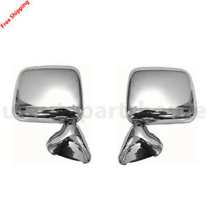 For 1989 1995 Toyota Pickup New Left Right Side Manual Mirror Chrome Set Of 2