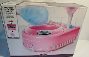 Nostalgia Deluxe Cotton Candy Hard Machine Maker Station Pink Complete Cot5pk