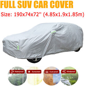 Universal Fit Suv Car Full Cover Outdoor Waterproof Dust Resistant Protection Us