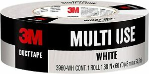 3m Multi use Duct Tape White 1 88 Inch X 60 Yard 3960 wh 1 Roll