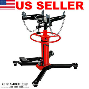 New 1660lbs Transmission Jack 2 Stage Hydraulic W 360 For Engine Lift Usa