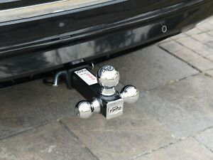 Toptow 2 Class Iii Iv Trailer Hitch Tri Ball Mount Chrome 3 Ball Hitch Receiver