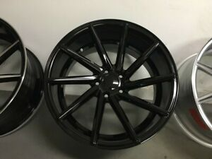 19 C Style Staggered Black Wheels Rims Fits Bmw 3 Series 323ci 323 328 335