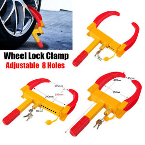 Wheel Lock Clamp Boot Parking Tire Claw Trailer Car Truck Anti Theft Device Key