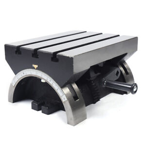 Tilting Milling Table Tilting Angle Milling Machine 12x9 Inch Adjustable Plate