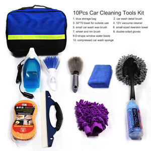 10pcs Car Cleaning Tools Car Wash Tools Kit For Detailing Interiors Premium J9a6