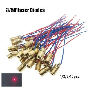 5 Million Watt Laser Diodes 650nm 6mm 3 5v Adjustable Lasers Dot Diode Module