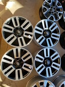 2010 2020 Toyota 4runner Factory Oem 20 Wheels Rims Black Silver Free Shippin