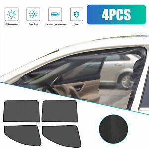 4x Magnetic Car Side Front Rear Window Sun Shade Cover Windshield Uv Protection