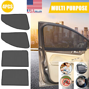 4x Magnetic Universal Car Side Rear Window Sun Shade Screen Cover Sunshade Visor