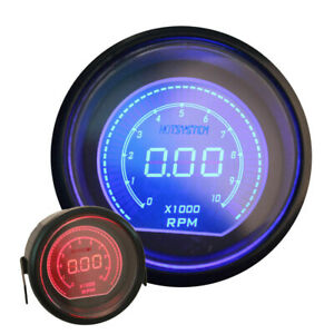 2 Blue Red Led Tacho Tachometer Elec 0 9999 Car Digital Gauge Meter Us Sale