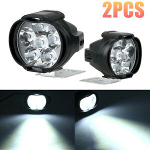 2pcs Car Motorcycle Headlight Spot Fog Light Front Head 6led Work Lamp Universal