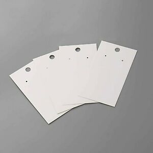100 White Earring Display Cards 3 5 X 2 Bag0099