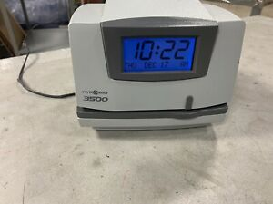 Pyramid 3500 Time Systems Light duty Time Clock Electronic No Key