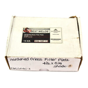 lot Of 9 Best Welds 4 5 X 5 25 Hardended Glass Welding Filter Plate 11
