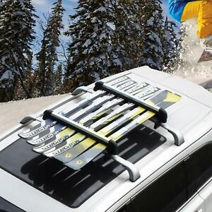 Ski Snowboard Carrier Cargor Roof Rack Carriers For 8 Pairs Skis Or 4 Snowboards