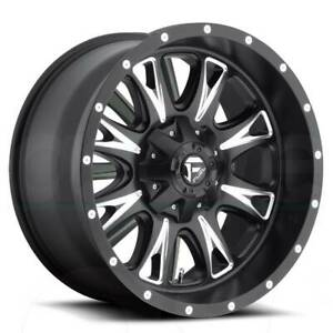 20x9 Matte Black Milled Wheels Fuel D513 Throttle 8x170 1 Set Of 4