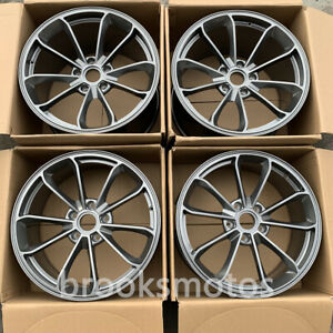 20 Staggered Gray Style Forged Wheels Rims Fit 2013 Porsche Cayman 981