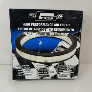 Mr Gasket 1480a High Performance Air Filter 14 X 2 Round Wire Mesh Dry