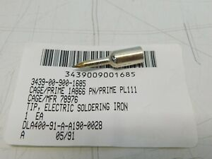 Electric Soldering Iron Tip 1 4 Thread On plated Pencil Tip Pl1111 Pn 78976