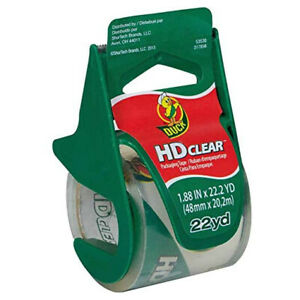 Duck Brand Hd Clear Packaging Tape 1 88 In X 22 2 Yds clear with Dispenser