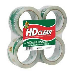Duck Brand Hd Clear Packaging Tape 1 88 In X 54 6 Yds clear 4 pack